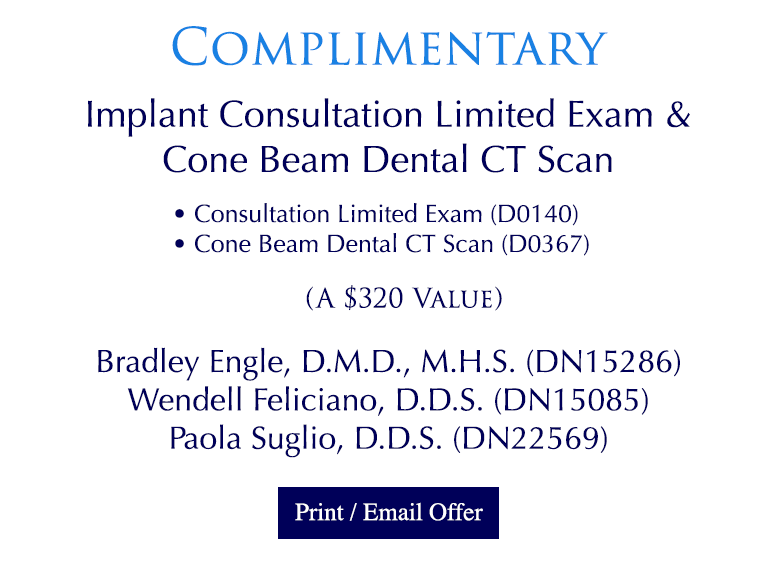 Complimentary Implant Consultation, Limited Exam & Cone Beam Dental CT Scan